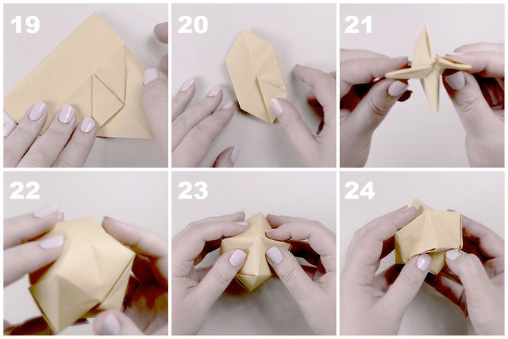 Звёздчатый октаэдрСхема сборки, шаг 5
