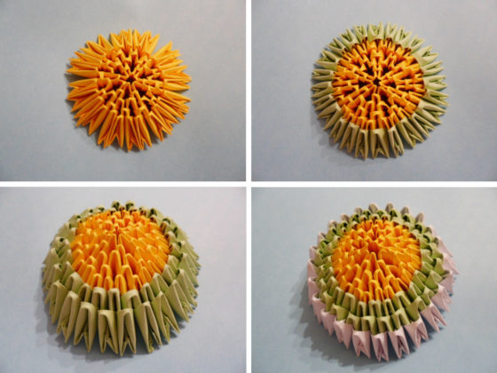 Узорчатое яйцо на подставке: схема сборки
