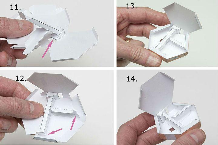 Сборка гармошки из бумаги