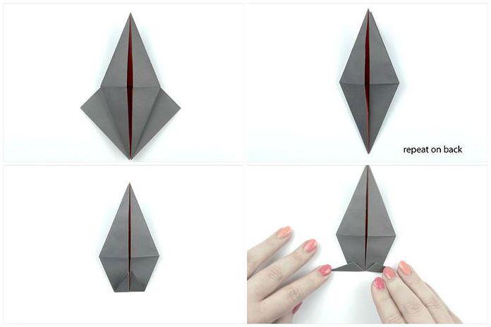 Сборка классической модели ворона: шаг 4