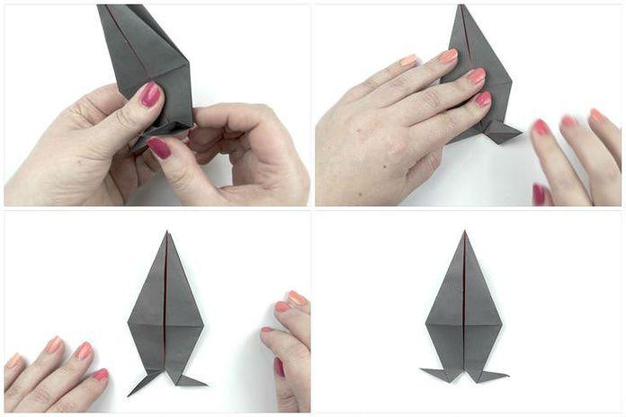 Сборка классической модели ворона: шаг 5