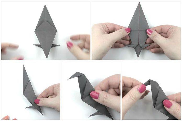 Сборка классической модели ворона: шаг 6