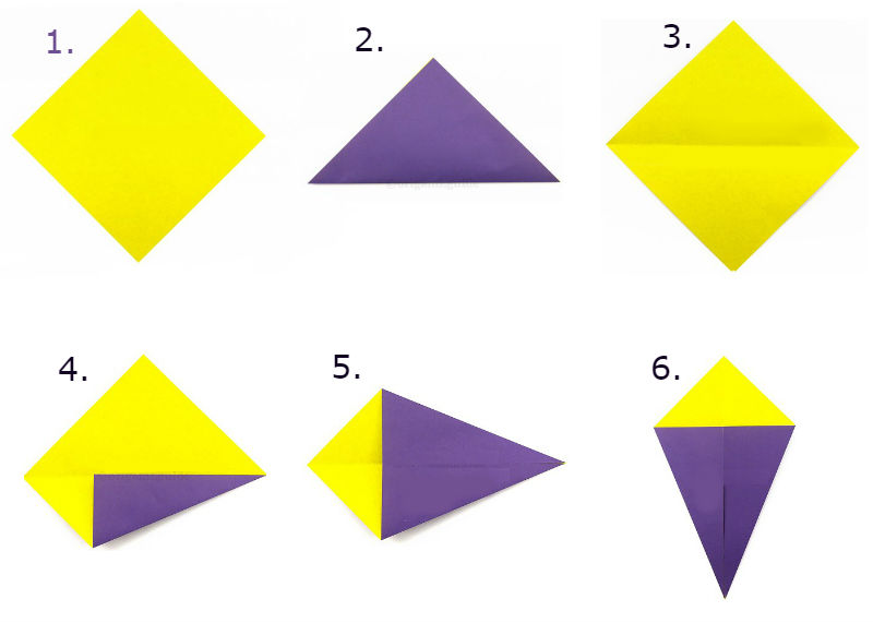 Сборка оригами Воздушный змей