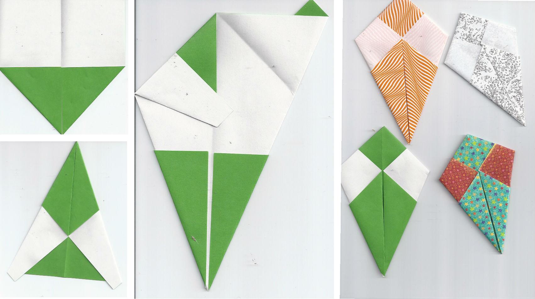 Схема сборки змея-открытки