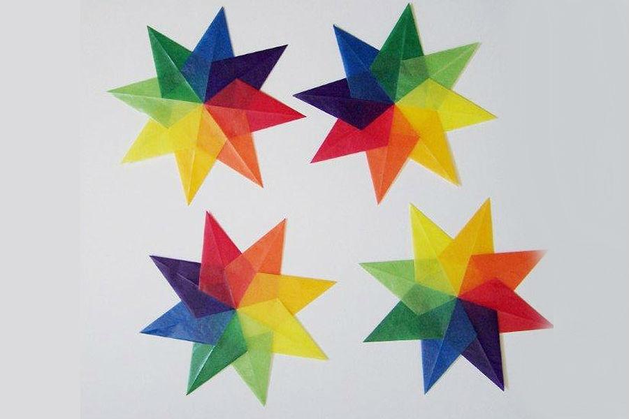 Бумажная звезда на основе воздушного змея