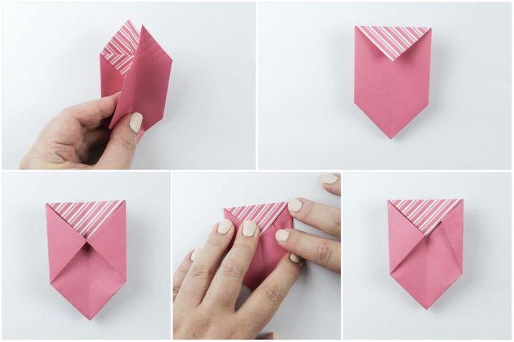 Схема сборки оригами Коробочка