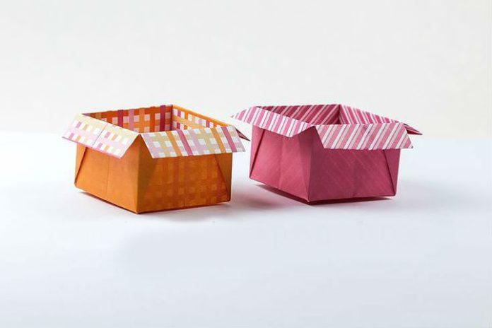 Оригами из квадрата Коробочка