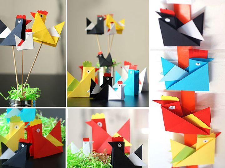 Оригами курица