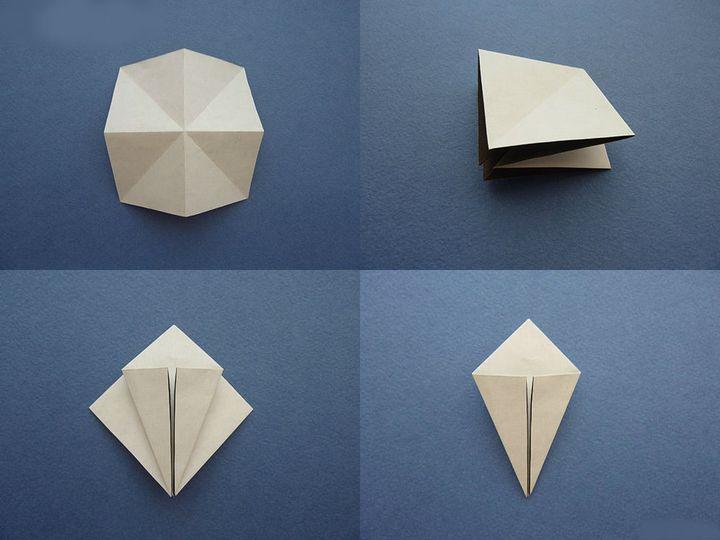 Поэтапная сборка оригами-чайки