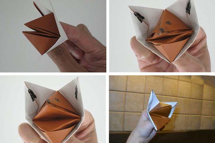 """Пошаговая инструкция изготовления оригами """"Кусака"""""""