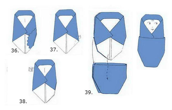 Пошаговая инструкция изготовления матрешки-оригами