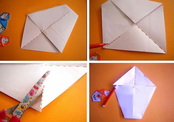 Пошаговая инструкция изготовления матрешки-оригами для открытки