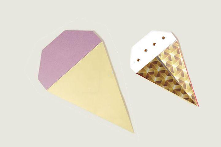 Оригами-мороженое