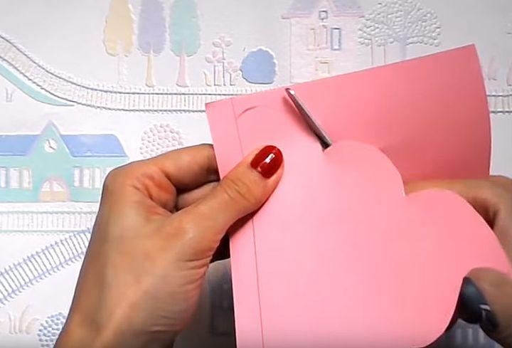 Модель оригами-мороженое на основе в виде закладки
