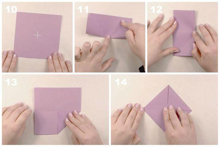 Сборка модели оригами-мороженое