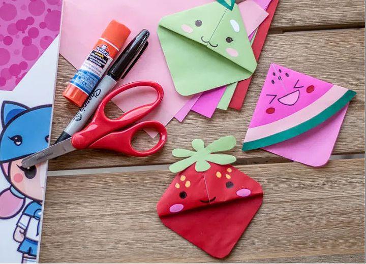 Оригами-закладка «Фрукты-ягоды»