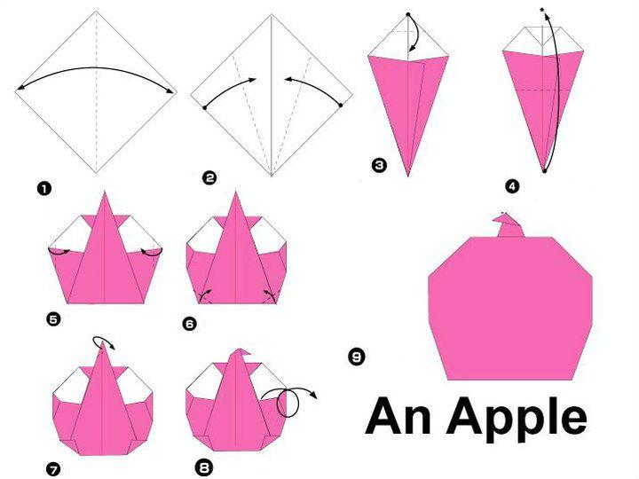 Сборка оригами-яблока