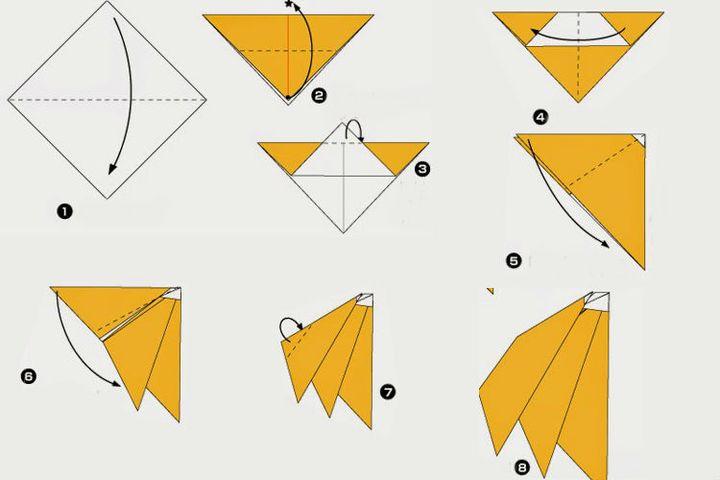 Сборка оригами-банана