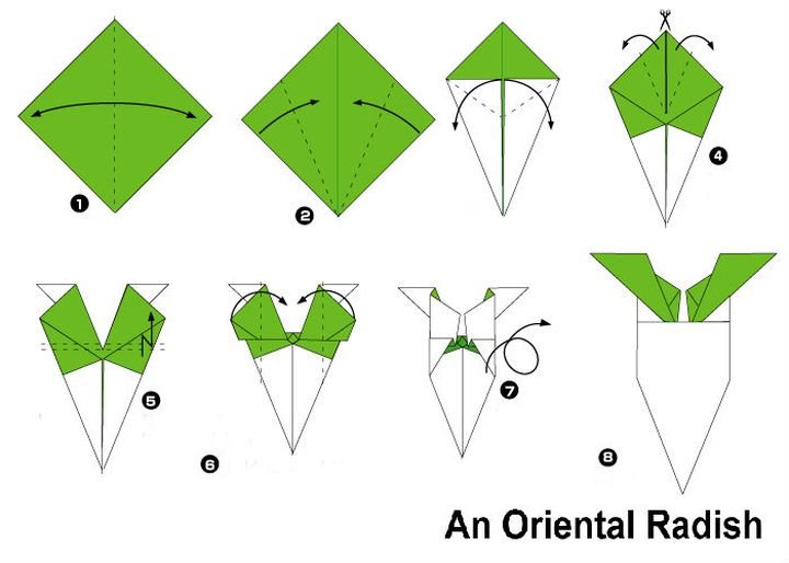 Сборка оригами-дайкона