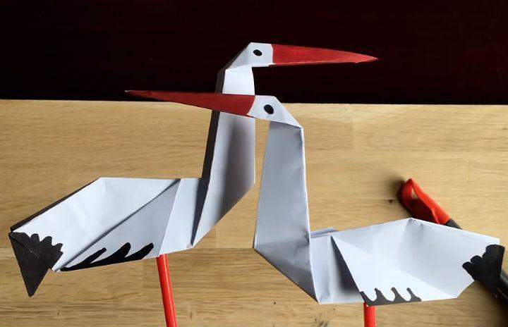 Аист-оригами