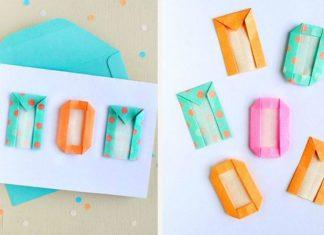 Оригами-буквы латиница