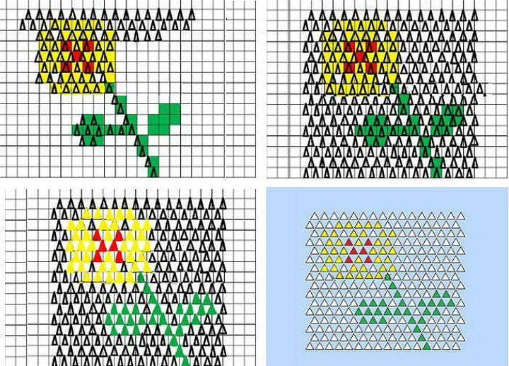 Схема для картины из модульного оригами