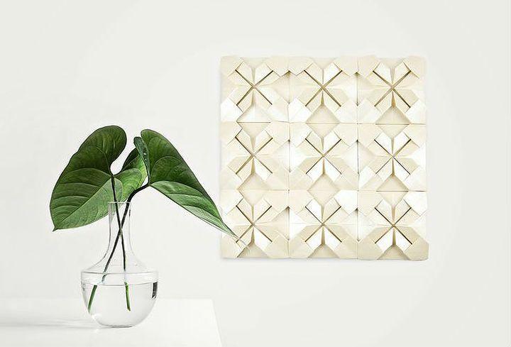 Панно в скандинавском духе - картина из оригами-модулей