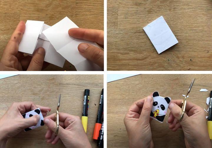 Пошаговая инструкция по сборке блокнота в технике оригами в форме панды