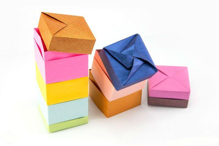 Оригами-коробочки с крышкой