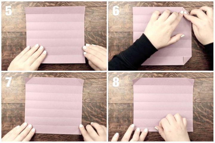 Поэтапная сборка пенала в технике оригами