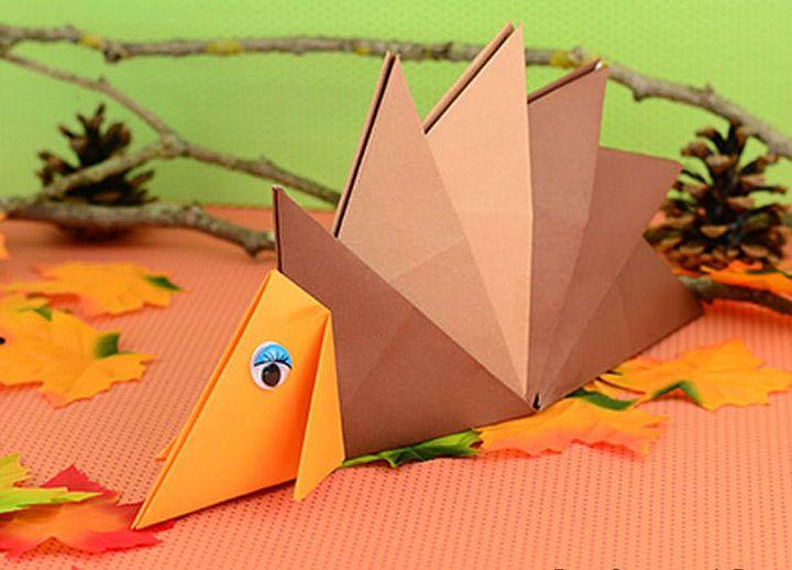 Ёжик-оригами