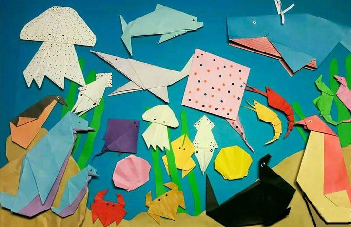 Поэтапная сборка оригами на морскую тематику