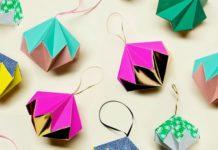 Елочные игрушки в технике оригами