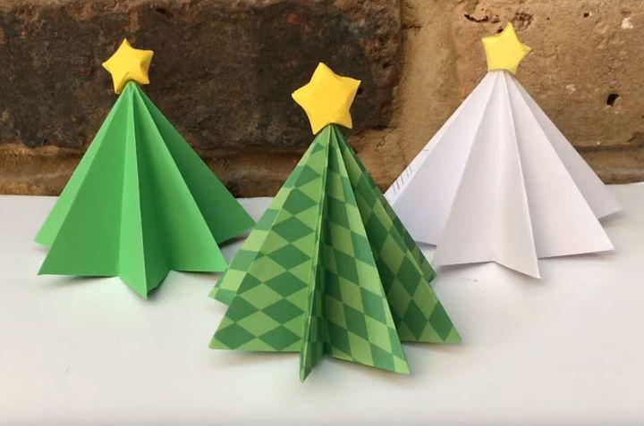 Пошаговая инструкция по сборке трехмерной новогодней елки-оригами