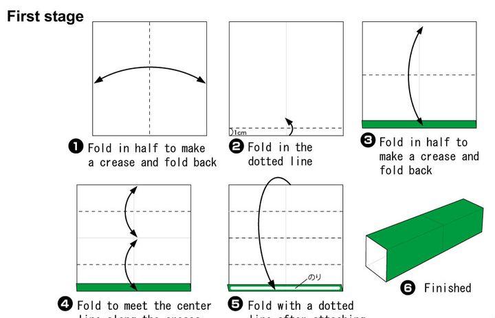 Пошаговая инструкция по сборке коробочки для подарков в виде елки-оригами