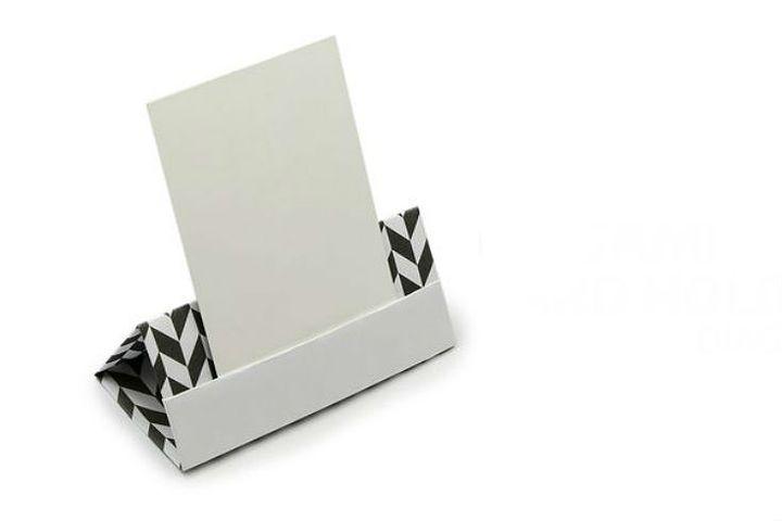 Настольная оригами-визитница
