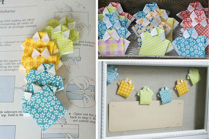 Оригами-закладка в виде рубашки