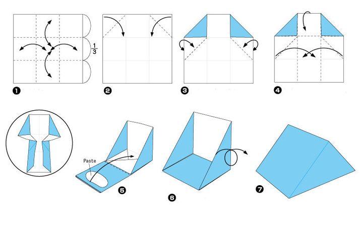 Пошаговая инструкция по сборке коробочки для подарков в технике оригами (Дед Мороз)