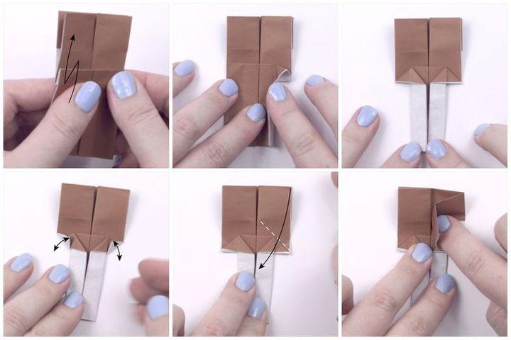 Пошаговая инструкция по сборке оригами-закладки в виде куклы хина нингё