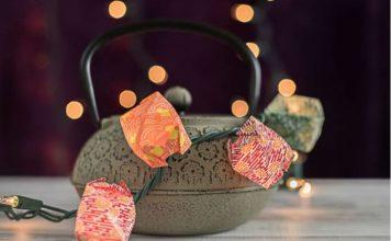 Гирлянда из фонариков в стиле оригами