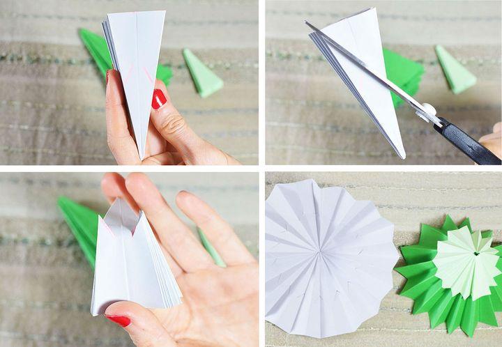 Поэтапная схема сборки складного оригами-зонтика