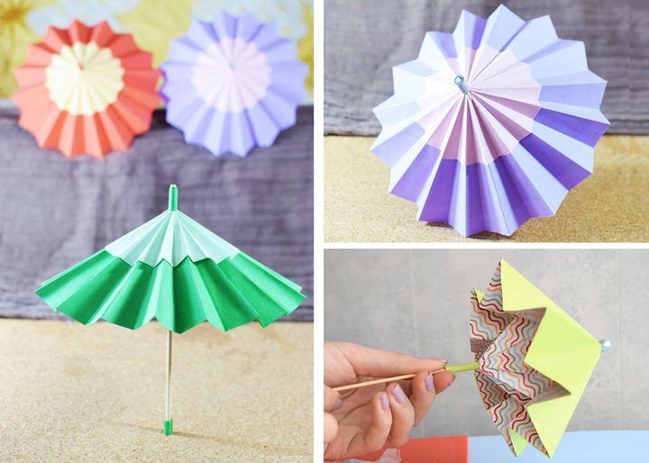 Складной оригами-зонтик