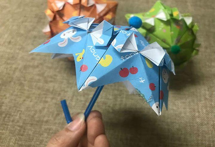 Оригами-зонтик в стиле барокко