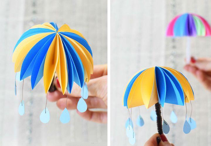 Оригами-зонтик из модулей