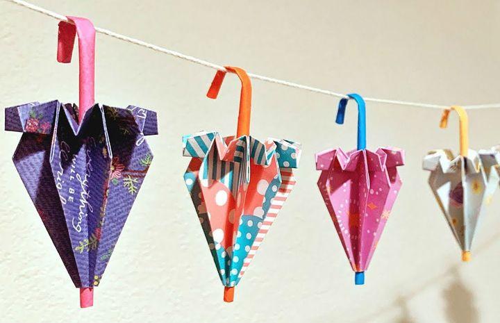Оригами-зонтик - классическая модель