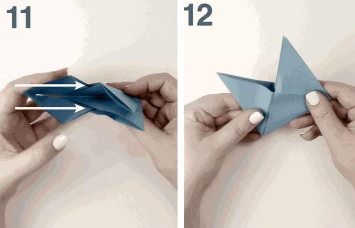 Поэтапная сборка новогодней игрушки с сюрпризом «Fox Box» в технике оригами
