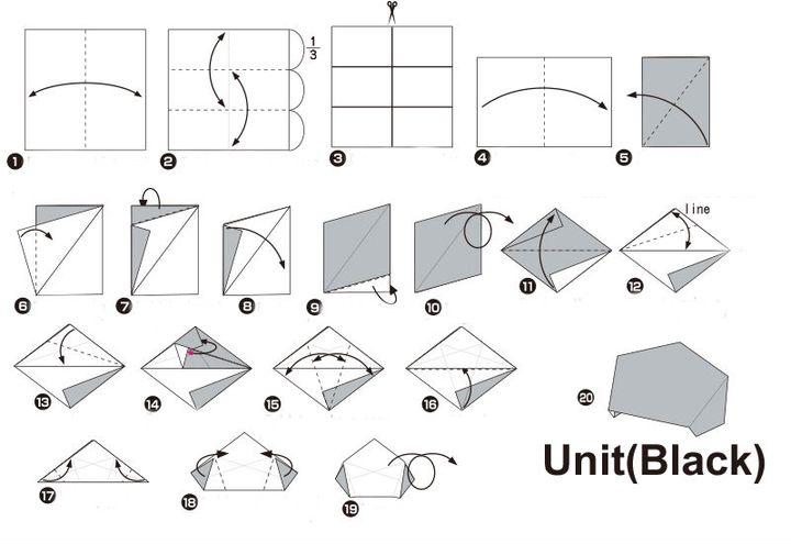 Пошаговая инструкция по сборке классической модели мяча в технике оригами