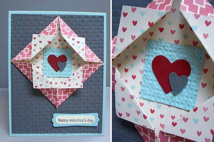 Пошаговая инструкция по сборке оригами на 14 февраля ShadowBox
