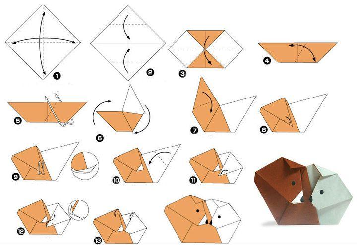 Пошаговая инструкция по сборке оригами на 14 февраля в виде двойной фигурки «инь – ян»