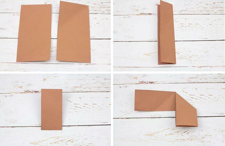 Пошаговая инструкция по сборке закладки в виде оленя в технике оригами